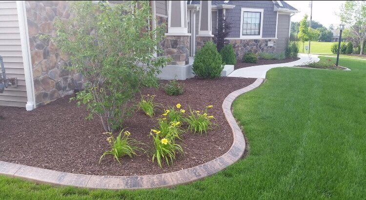 Landscaping, lawn paths and walkways