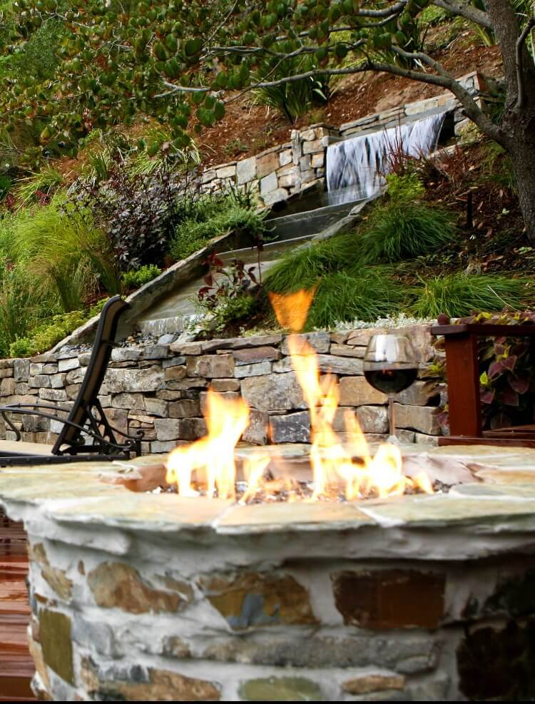 Custom made garden Fire Pit and Fireplace